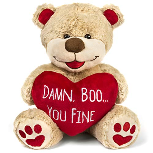 Valentines Bear - 8 Inches Tall - Funny for Girlfriend, Boyfriend, Husband or Wife (The Perfect Valentines Gift For Your Boyfriend)
