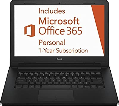 2016 Newest Dell Inspiron i3452 Premium Laptop PC, 14-inch HD Touchscreen Display, Intel Celeron Dual Core Processor, 2GB RAM, 32GB Flash Storage, Bluetooth, Windows 10, 1 Year Office 365 Personal