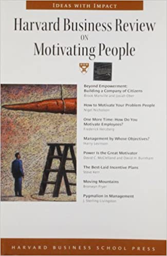 Book Harvard Business Review on Motivating People (