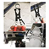 Hose Clamp Pliers Auto Repair Tool Swivel Flat Band for Removal and Installation of Ring-Type or Flat-Band Hose Clamps