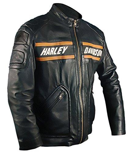 Bill de hombre negro Estilo Goldberg de Leatherly cuero moto Motociclista Chaqueta chaqueta qtCwvv