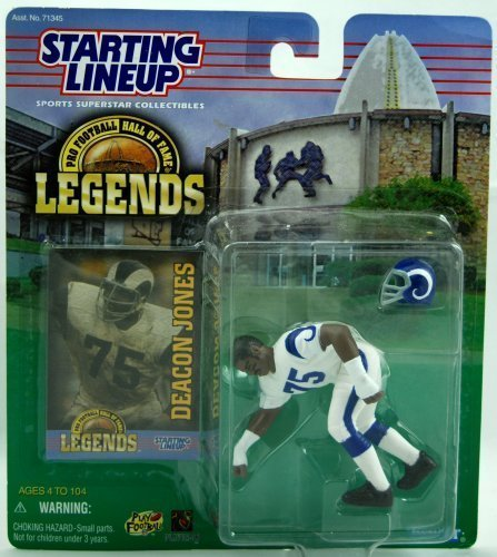 - Starting Lineup - 1998 Pro Football - Hall of Fame Legends Edition - Deacon Jones - Los Angeles Rams - MOC
