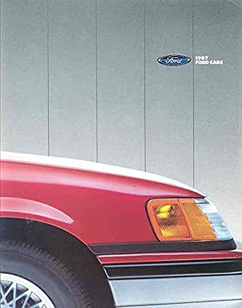 1987 Ford Escort Mustang Tempo Tbird Crown Victoria Wagon Brochure Canada