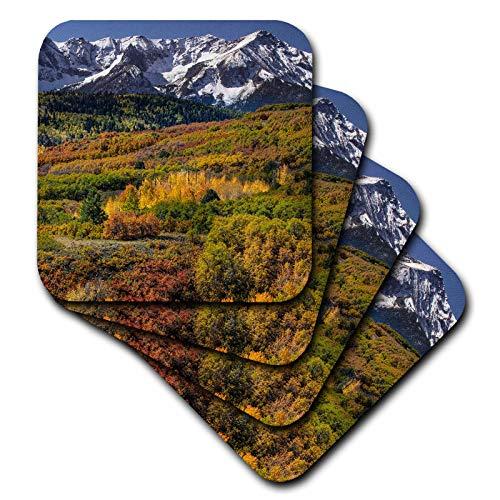 3dRose Danita Delimont - Scenics - Autumn aspens, Sneffels Range, Uncompahgre National Forest, Colorado - set of 8 Coasters - Soft (cst_314737_2)