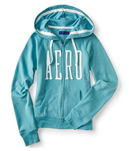 Aeropostale NY Women's Full-Zip Hoodie Sweatshirt (Aqua 1442, XL) by Aeropostale