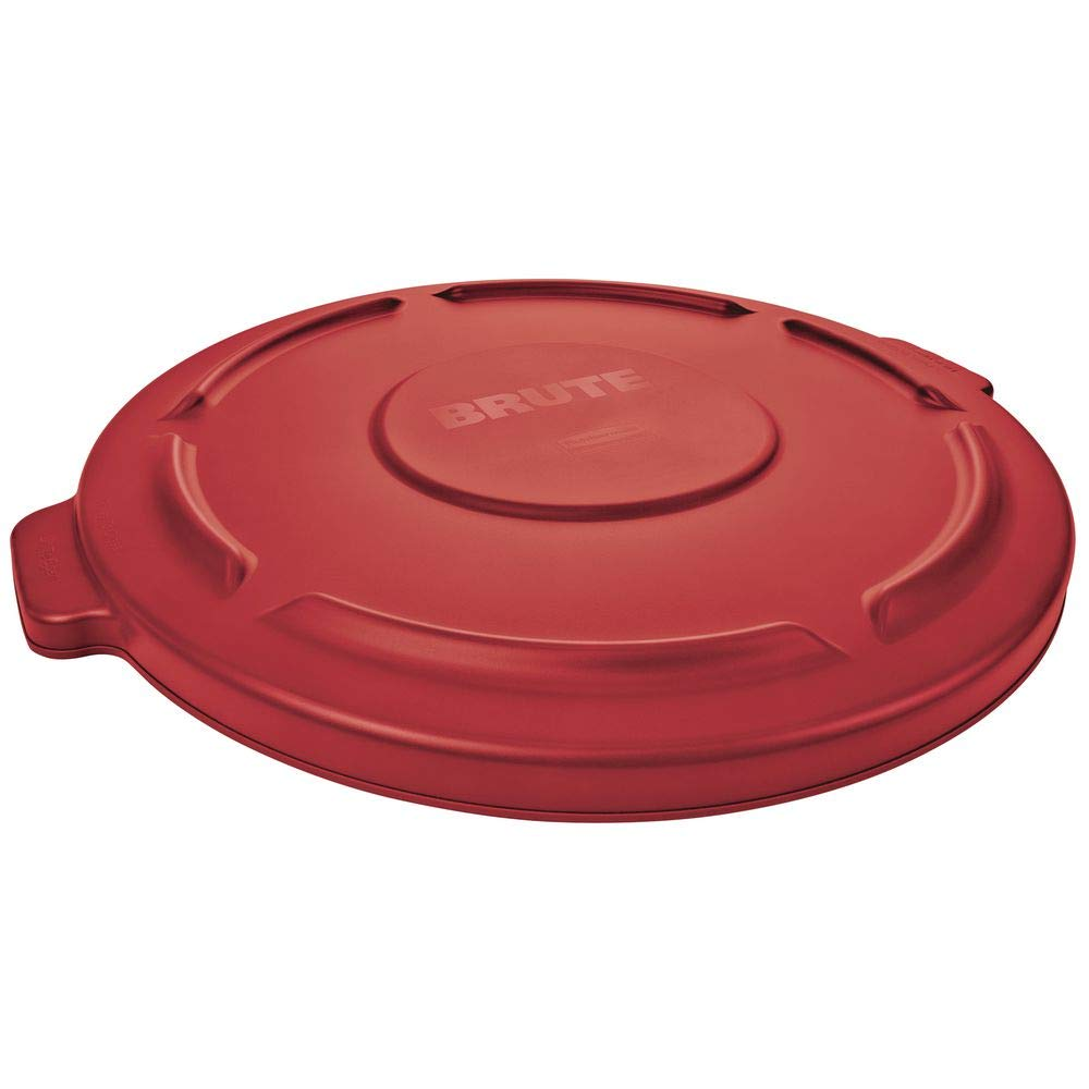 Retail Resource 263100RED Flat Trash Can Lid for 32 Gallon Rubbermaid Brute Red