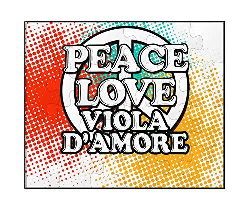 - Makoroni - Peace Love Viola D'Amore Music - Jigsaw Puzzle, 30 pcs.