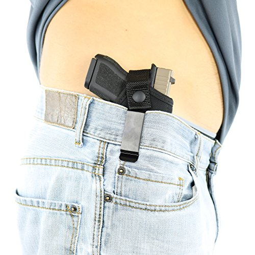 ComfortTac Concealed Carry Holster | Carry Inside The Waistband IWB or Outside The Waistband OWB | Size 2 Fits Glock 42, Kahr CM40, Taurus 738 and Similar Guns (Right)