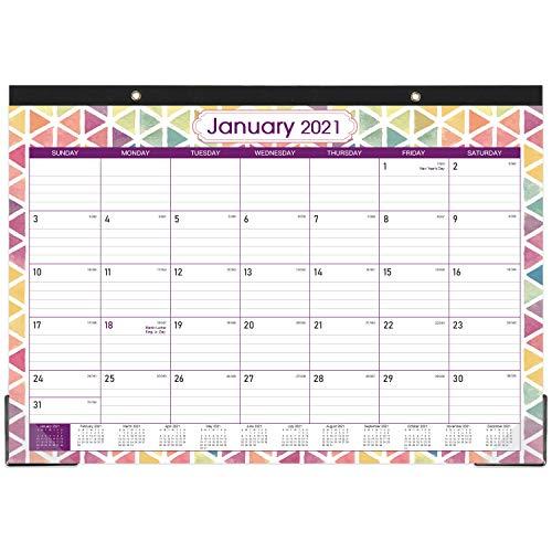 2021-2022 Desk Calendar – 18 Monthly Desk/Wall Calendar, 17″ x 12″, Jul 2021-Dec 2022, Large Monthly Desk Calendar, Large Ruled Blocks, Tear Off, Best Desk Calendar for Planning and Organizing