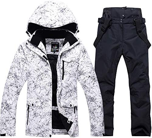 Fashion Women's High Waterproof Windproof Snowboard Colorful Printed Ski Jacket and Pants