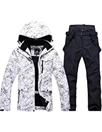 Fashion Women's High Waterproof Windproof Snowboard Colorful Printed Ski Jacket and Pants