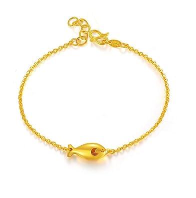 81852319364 Amazon.com: GOWE 24k Pure Gold Bracelet Female New Fashion Jewelry ...