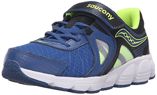 Saucony Kotaro 3 Alternative Closure Sneaker (Little Kid/Big Kid), Blue/Black/Citron, 12 W US Little Kid Photo #1