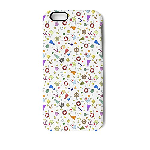 iPhone 7 Case iPhone 8 Case Colorful Anchor Sea Beach Shock Absorption Technology Bumper Soft TPU Cover Case For iPhone 7/iPhone 8