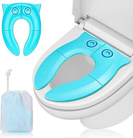 Porte /à Voyage Portable Toilette Convient aux B/éb/és Gar/çons et Filles Si/ège Pliable R/éducteur WC Tout-Petit Pot R/éducteur de Toilette Enfant