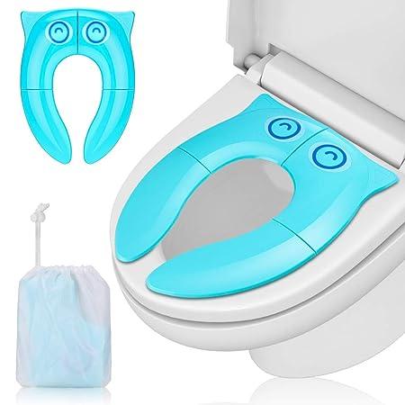 Komake Faltbarer Toilettensitz Kinder Toilettentrainer, Tragbar Reise WC Sitz, Kleinkind Toilette Töpfchen Kindertoilette mit