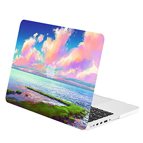 TOP CASE - Art Printing Series Graphics Rubberized Hard Case Cover Compatible with Apple MacBook Pro 13
