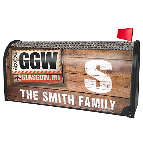 NEONBLOND Custom Mailbox Cover Airportcode GGW Glasgow, MT