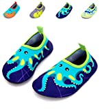 Giotto Kids Swim Water Shoes Quick Dry Non-Slip For Boys & Girls, Blue, 26-27