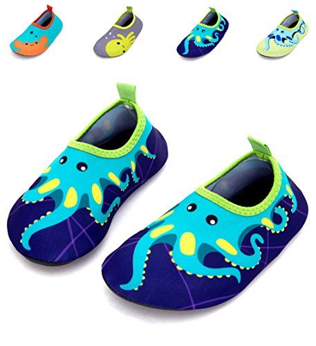 Giotto Kids Swim Water Shoes Quick Dry Non-Slip For Boys & Girls, Blue, 26-27 by Giotto