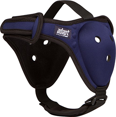 Adapt Athletics Enhanced Headgear for Wrestling, BJJ, MMA Ear Protection: Extra Strong Stitching, Comfortable Chin Strap, Antimicrobial, New Easy to Adjust Design One Size Fits Most (Cobalt Blue)