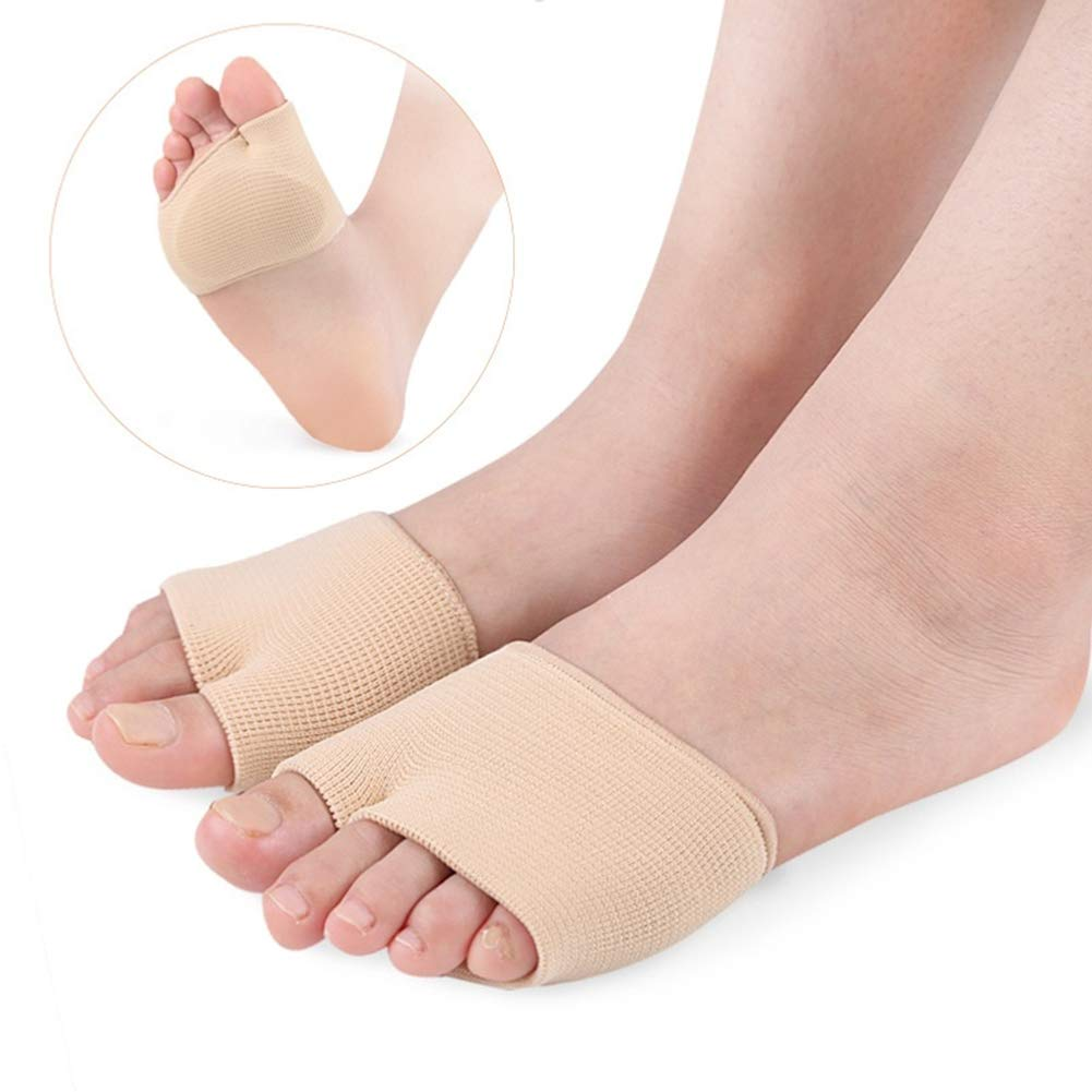 ink2055 Foot Cushion,1Pair Anti Slip Metatarsal Sleeves Pads Forefoot Insole Cushions Foot Pain Relief Pads L
