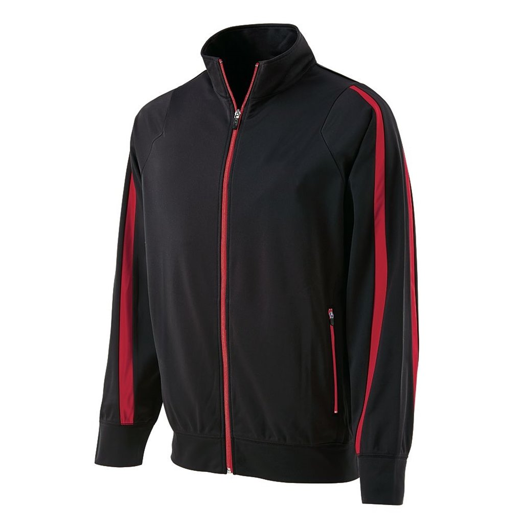 Holloway Youth Determination Jacket (Medium, Black/Scarlet) by Holloway