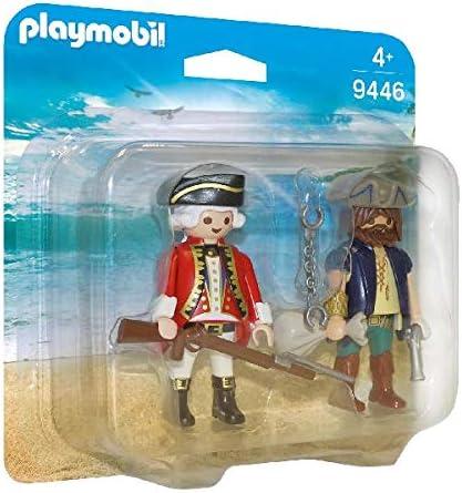 PLAYMOBIL- Pirata y Soldado Juguete, Multicolor (geobra ...