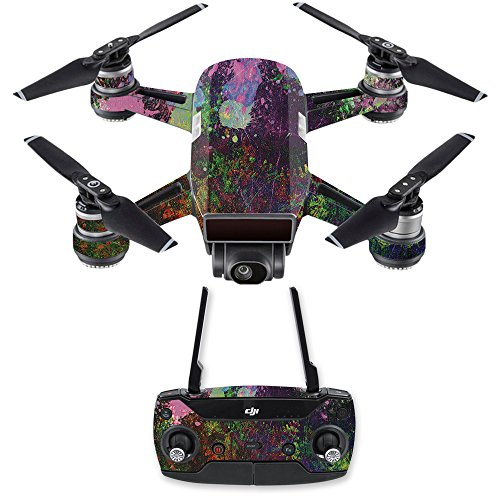 MightySkins Skin for DJI Spark Drone & Controller - Paint Drip | Protective, Durable, and Unique Vinyl Decal wrap Cover | Easy to Apply, Remove, and Change Styles | Made in The USA