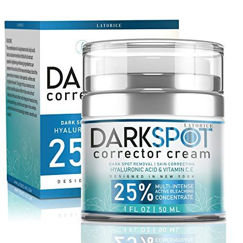 Latorice Dark Spot Corrector Cream For Face and Body-effective Ingredients With 4-Butylresorcinolalpha-arbutin Butyrospermum Parkii ExtractJojoba seed oilHyaluronic acid. Lightening Cream for Dark Spots Corrector