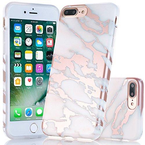 Estuche IPhone 7 Plus y 8 Plus, diseño creativo de mármol, A2EBALLART Estuche protector de goma TPU protector de goma TPU suave y flexible para iPhone ...