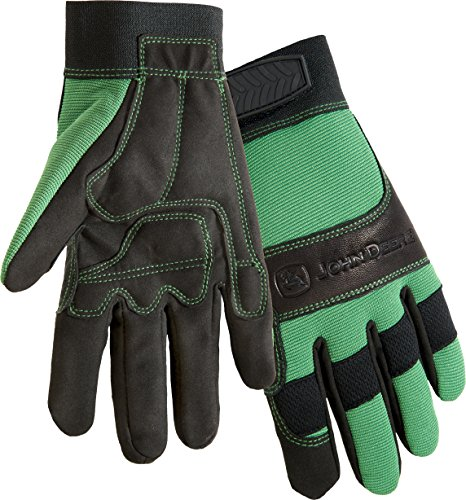 West Chester John Deere JD00010G High Dexterity Synthetic Leather Palm Utility Work Gloves: Small, 1 Pair ()