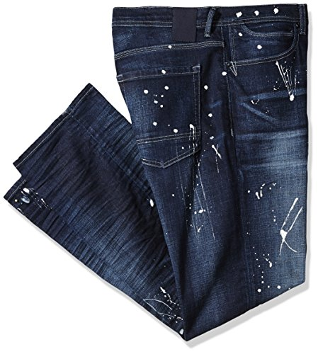Sean John Men's Tall Size Dark Paint Splatter Jean, Tornado Wash, 38T by Sean John