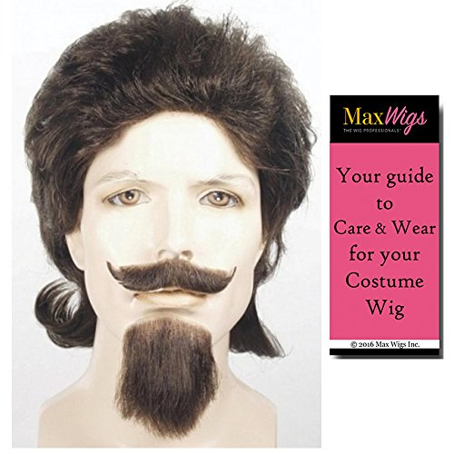 Buffalo Bill Cody Set Lacey Wigs Mustache Goatee Wig Western Cowboy Western Bundle With MaxWigs Costume Wig Care Guide]()