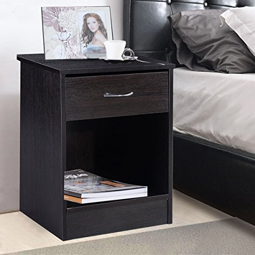 Giantex night stand bedroom stand bedside furniture drawer for Night stand cost