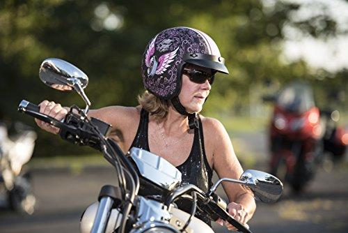 Vega Helmets Unisex-Adult Open Face Motorcycle Helmet (Lethal Angel Graphic, Medium)