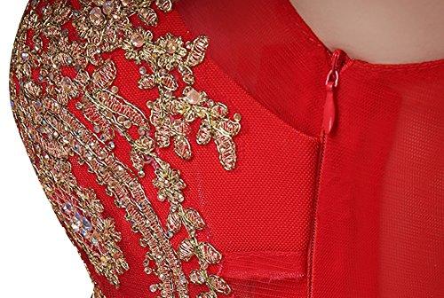 Drasawee Red1 Kleid Cocktail Rot Damen BSxAPqwY