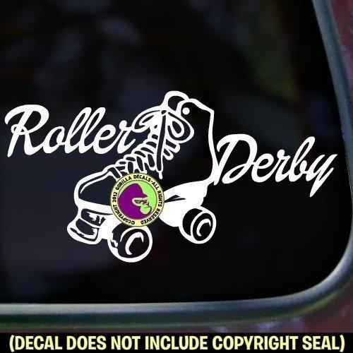 ROLLER DERBY Skating Vinyl Decal Sticker A