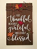 Thanksgiving / Fall Thankful Grateful Blessed Wooden Sign