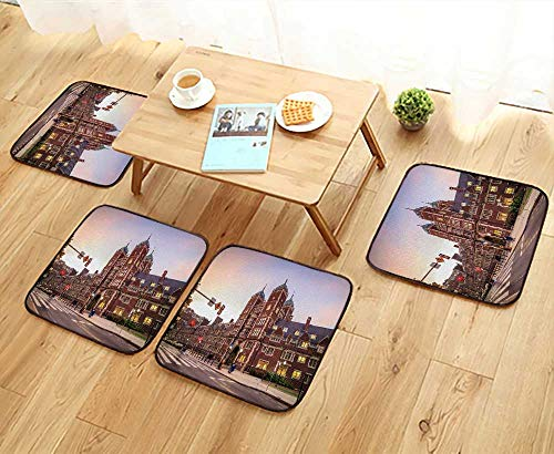 UHOO2018 Luxurious Household Cushions Chairs Very Build in University of Pennsylvania in Philadelphia Pennsylvania Soft and Comfortable W31.5 x L31.5/4PCS Set