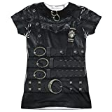 Edward Scissorhands Romantic Edward Leather Costume Junior Front Print T-Shirt