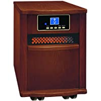 Comfort Zone Walnut Finish Fan-Forced Digital Infrared Quartz Heater CZ2011W