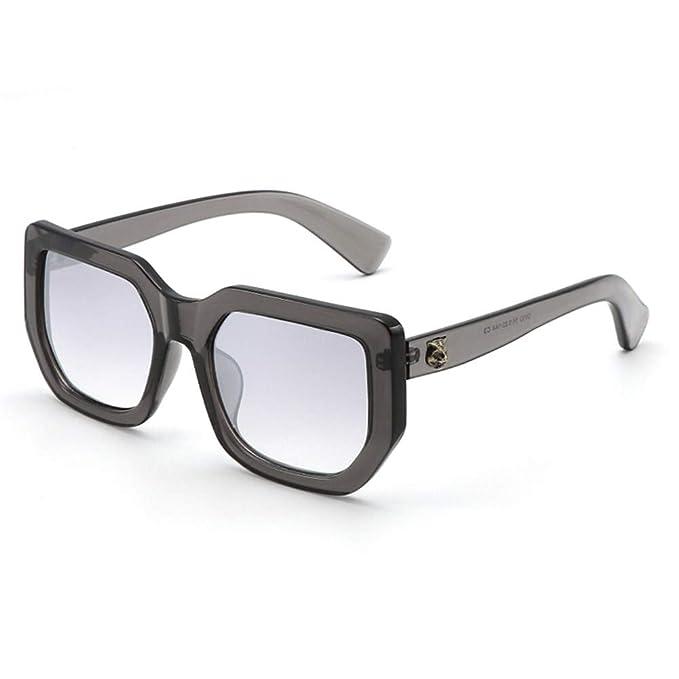NIFG Gafas de sol blancas grandes de la personalidad de la ...