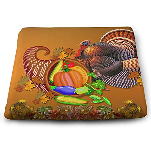 Comfortable Seat Cushion Chair Pad Turkey Thanksgiving Day Perfect Memory Foam Cushions Lighten The Bumps
