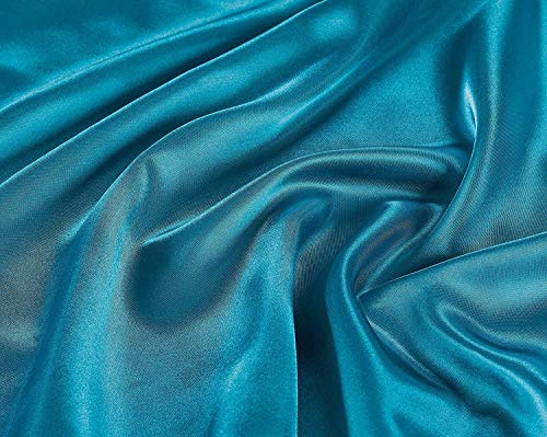 Linen Plus Twin Size 3pc Satin Sheet Set Soft Silk Cozy Solid Turquoise New