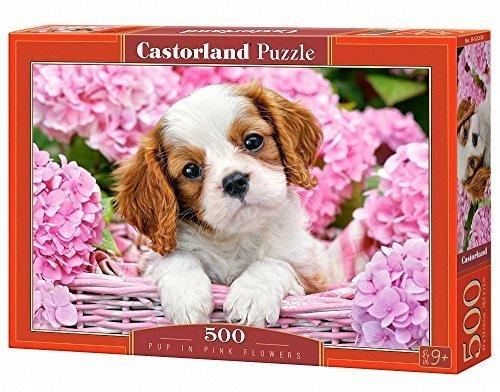 Castorland  Pup in rosa Flowers  Jigsaw Puzzle (500-Piece, Multi-Colour)
