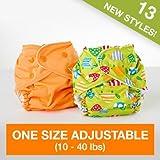 FuzziBunz Adjustable Diaper, Chevron, 10-40 Pound