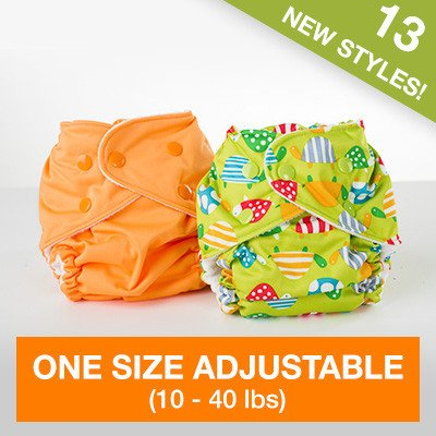 FuzziBunz Adjustable First Year Pocket Diaper - Chevron - M/L/Xl - Snap