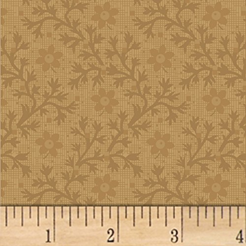Marcus Brothers 0559016 Pam Buda Pieceful Pines Tan Fabric by The Yard ()