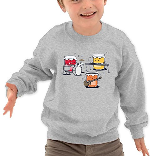Puppylol Sushi Band Kids Classic Crew-neck Pullover Hoodie Ash 5-6 Toddler